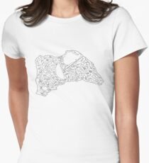 Race Tracks to Scale - Plain Layouts Women's Fitted T-Shirt
