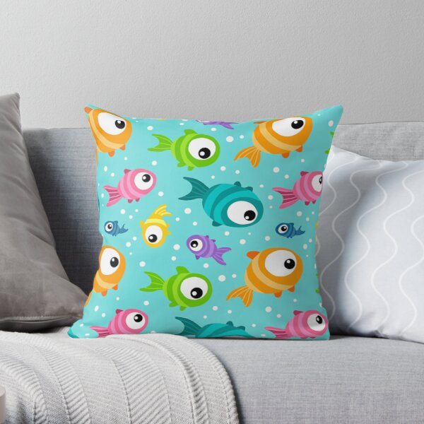 Tropical Aquarium Throw Pillow