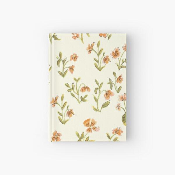 Vintage Orange Floral Pattern Hardcover Journal