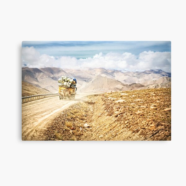 Dusty Ride to Mount Everest Canvas Print