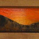 Orange Horizon by james black
