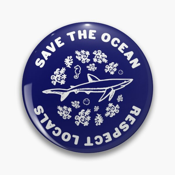 Save The Ocean Sea Animals Pin