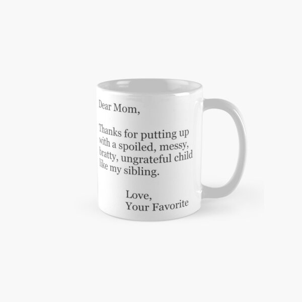 Mothers Day Ideas and Funny Mom Christmas Cards & Gifts for Christmas & Birthday Classic Mug