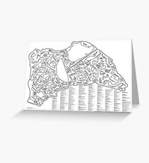 Race Tracks to Scale - Listed and Labelled Greeting Card