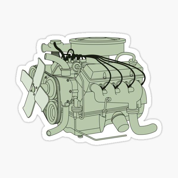 Car Engine Sticker