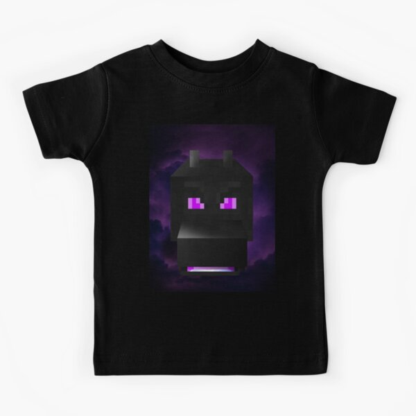 Ender Dragon - From out of the mist - Minecraft inspired digital illustration Kids T-Shirt