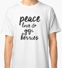 peace, love & goji berries Classic T-Shirt