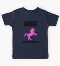 Invisible Pink Unicorn Kids Tee