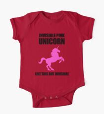 Invisible Pink Unicorn One Piece - Short Sleeve