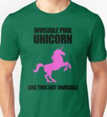 Invisible Pink Unicorn Unisex T-Shirt