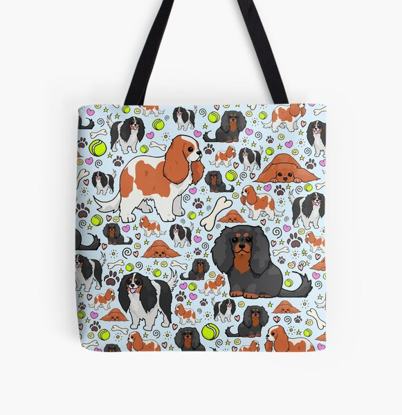 Cavalier King Charles Spaniel All Over Print Tote Bag