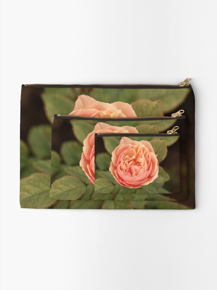 Alternate view of Coral Rose Zipper Pouch