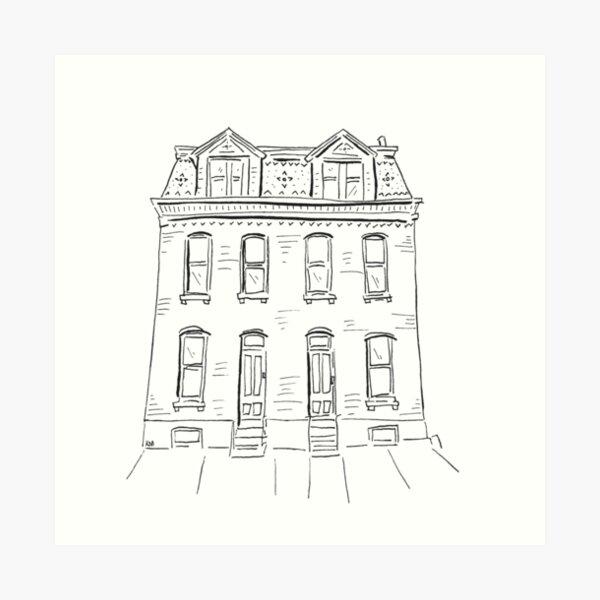 2020 03 30 Building  Art Print