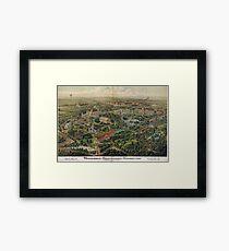 Vintage Nashville Centennial Park Map (1897) Framed Print