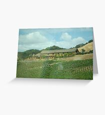 Drive By Sot of Winery Greeting Card