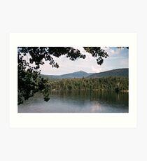 Whiteface Mountain across lake Saranac NY 19570713 0020 Art Print