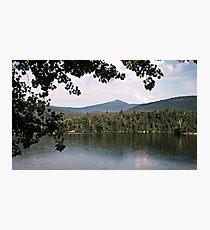 Whiteface Mountain across lake Saranac NY 19570713 0020 Photographic Print