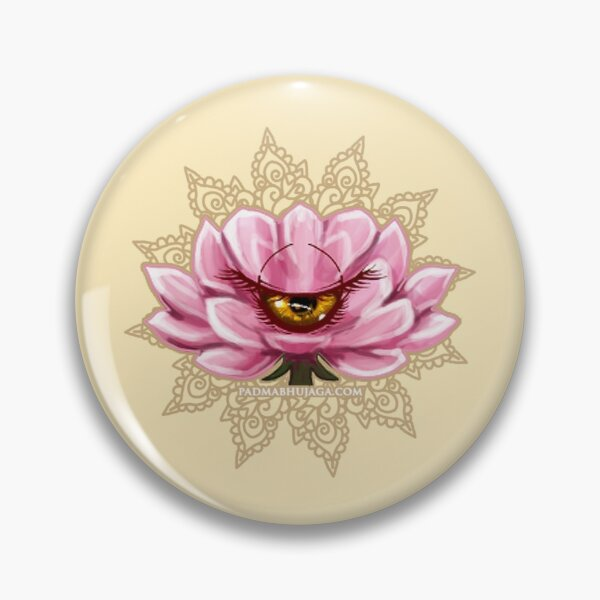 Gulābī Kamala Sticker  Pin