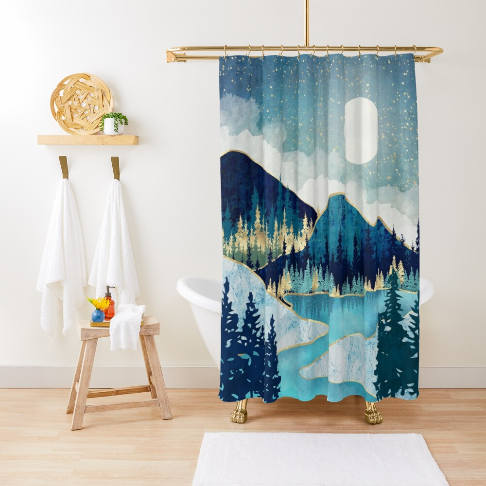 Morning Stars Shower Curtain