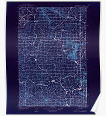 USGS Topo Map Washington State WA Oakesdale 242891 1905 125000 Inverted Poster