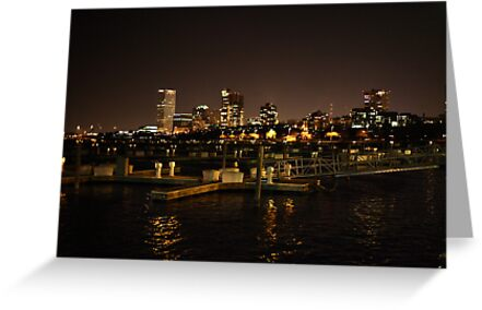 Milwaukee Night Skyline by Thomas Murphy