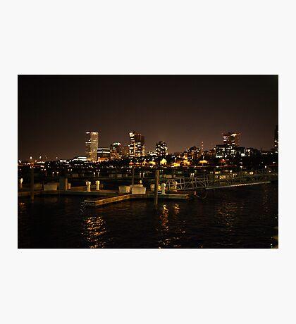 Milwaukee Night Skyline Photographic Print