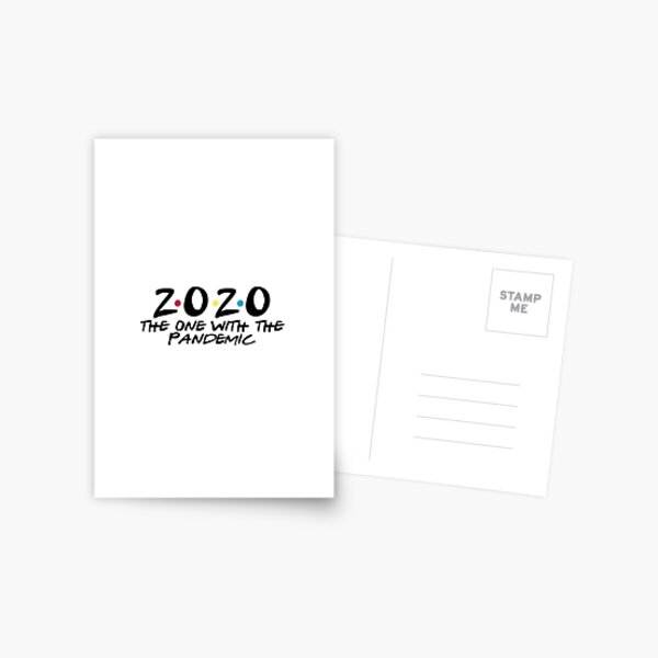 2020 the one with the pandemic Postcard