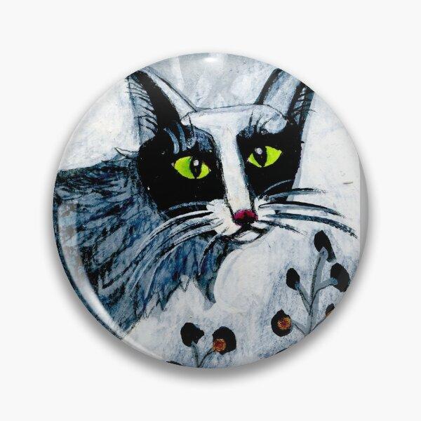 Tuxedo  cat, black cat, pet portrait, cute pets, cat art Pin