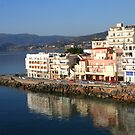 Early Morning Reflections in Crete by Laurel Talabere