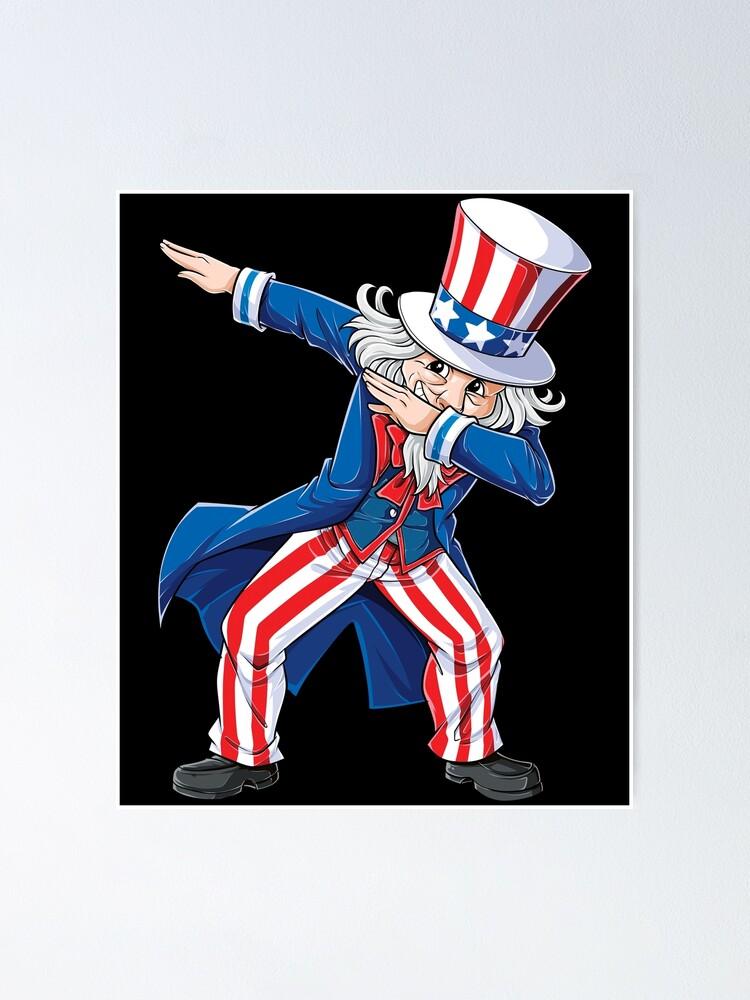 4th Of July Dabbing Uncle Sam Youth T Shirt