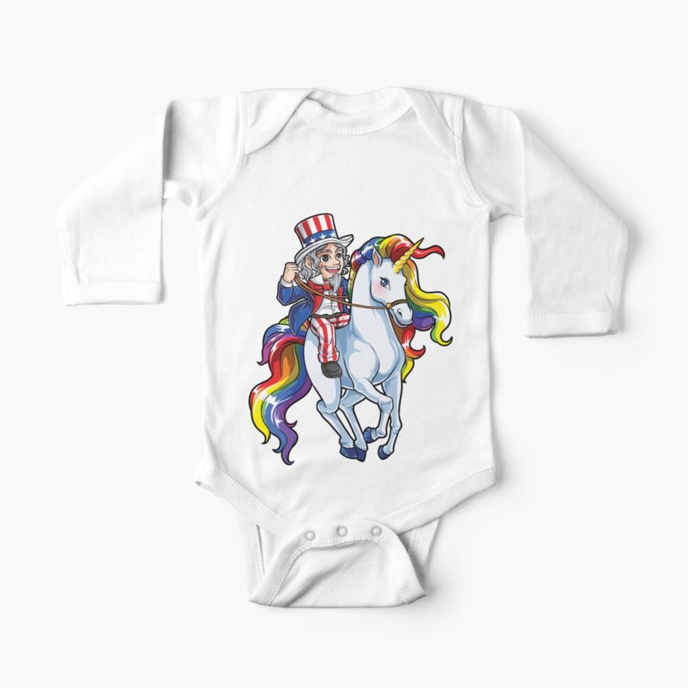 Gray Baby Merica Unicorn