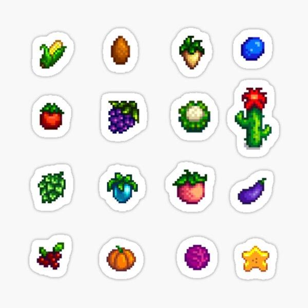 Misc Pixel Crops Sticker