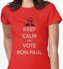 KEEP CALM AND VOTE RON PAUL Women's Fitted T-Shirt