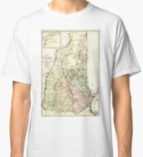 Vintage Map of New Hampshire (1796) Classic T-Shirt