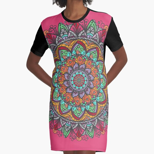 Great Mandala Hand Made 1 Vestido camiseta