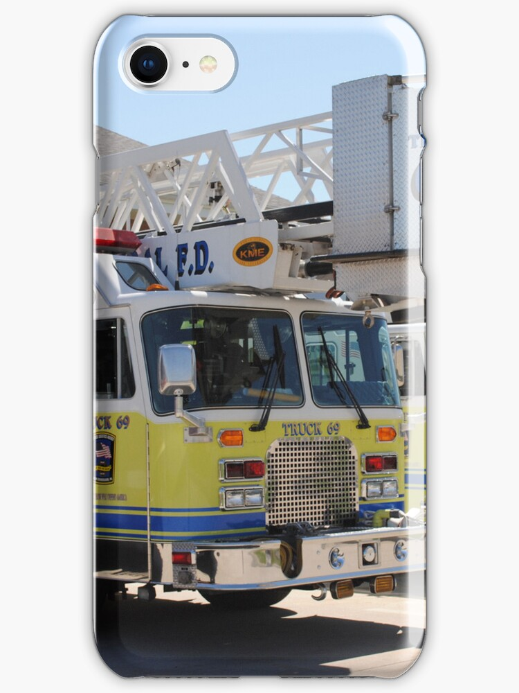 Fire Truck 69 i phone cover by maryevebramante
