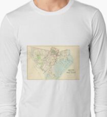 Vintage Map of New Haven Connecticut (1893) Long Sleeve T-Shirt