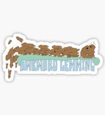 Awkward Lemming Sticker
