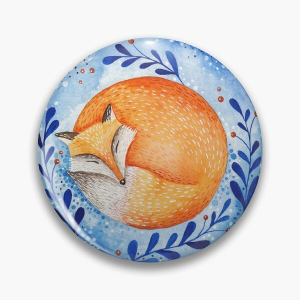 Sleeping fox Pin