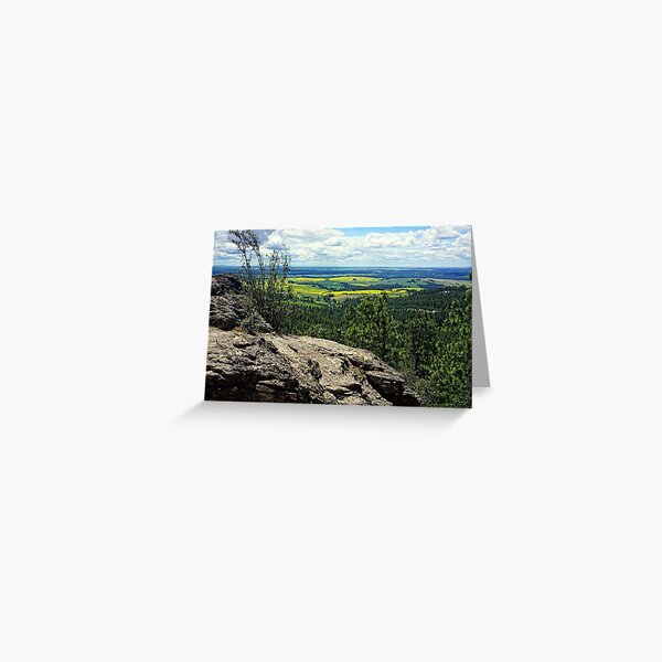 Palouse View from the Rocks of Sharon Greeting Card
