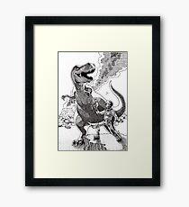 HOW I MET YOUR MOTHER (Spaceman Vs Dinosaur) Framed Print