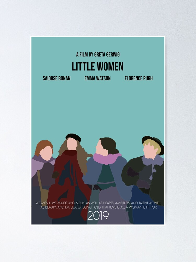 Little Women Minimalist Movie Poster 2019 Poster By Augierice Redbubble See more ideas about fit women, fitness inspiration, fitness girls. redbubble