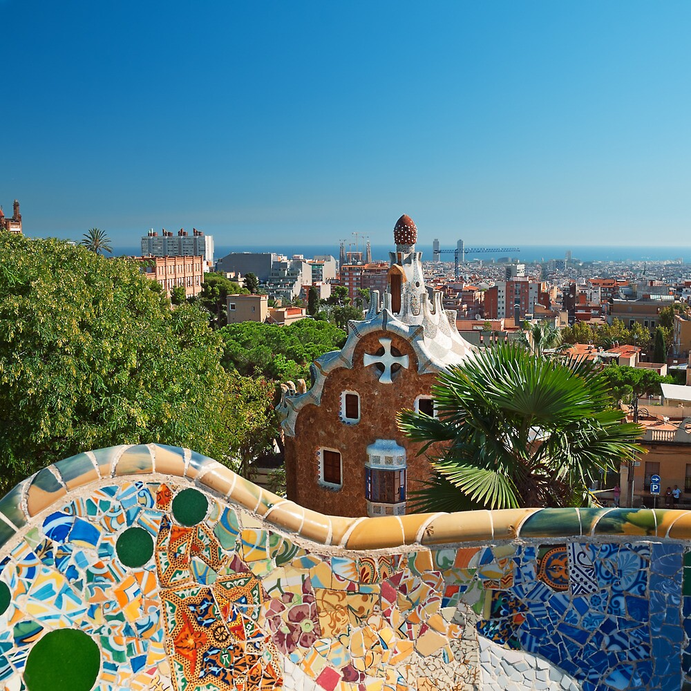 Parg Guell in Barcelona - Spain by fineartphoto1