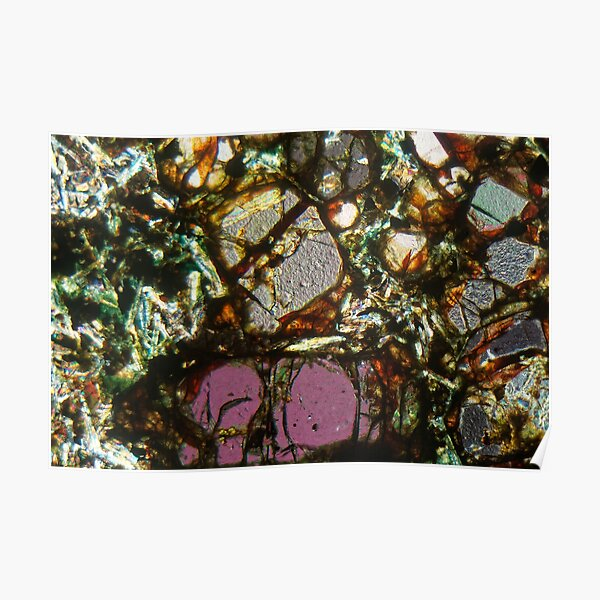 Petrographic thin section of a basalt rock Poster