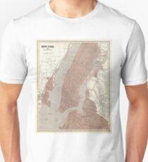 Camiseta unisex Vintage Map of New York City (1845) 2
