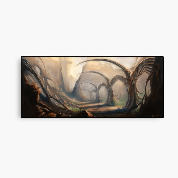 Valley of the Bird Statues Canvas Print