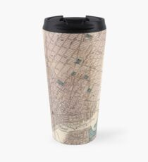 Taza de viaje Vintage Map of New York City (1867)