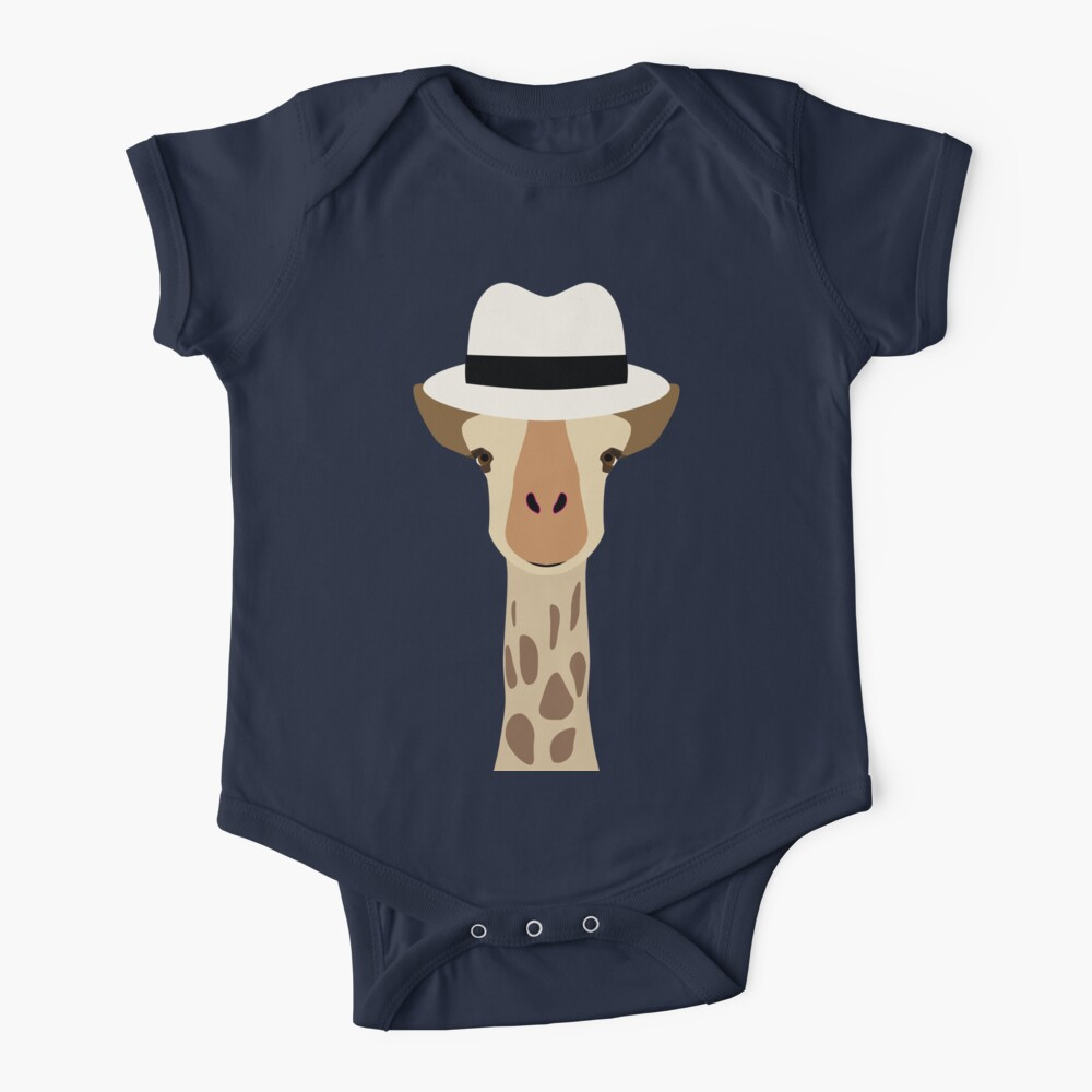 NDVH Giraffe Wearing a Fedora Baby One-Piece