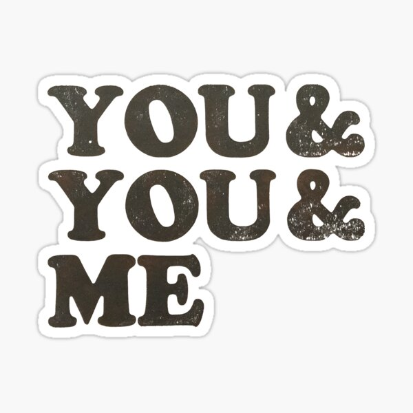 Woodtype Typography for Throuple and Polyamorous Relationships Sticker