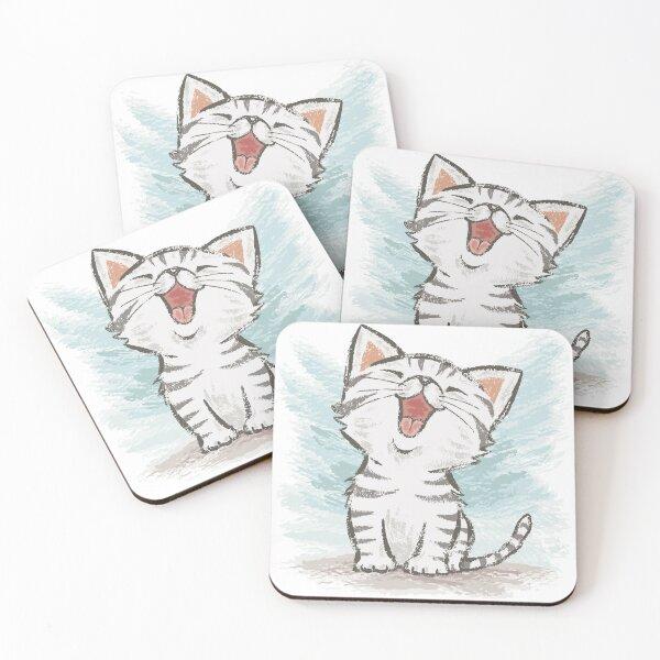 American Shorthair happy Coasters (Set of 4)